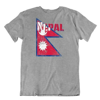Nepal Flag Tshirt T-shirt Tee Top City Map Shahs Himalayas Sun And The Moon • 14.94£