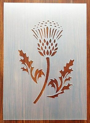 £5.50 • Buy Thistle Stencil Mask Reusable PP Sheet For Arts & Crafts, DIY