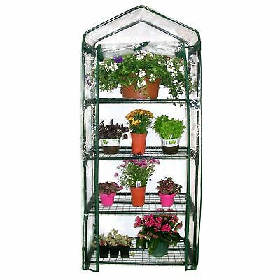 £34.99 • Buy Garden Compact Walk In Greenhouse Frame Shelves Reinforced Cover Cold Frame New