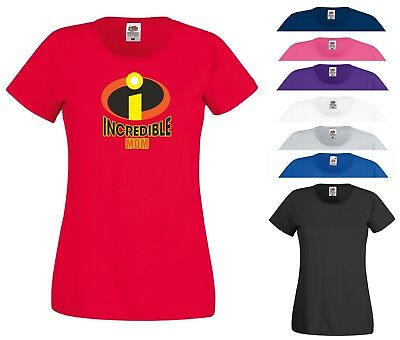 Incredible Mom T Shirt The Incredibles Superhero Mother'S Day Gift Women Tee Top • 8.99£