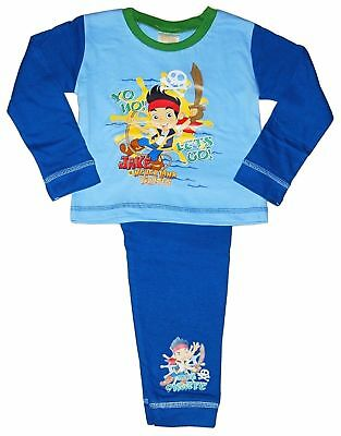 BOYS DISNEY JAKE AND THE NEVERLAND PIRATES PYJAMAS AGES: 12-18 Up To 3-4 Years • 3.99£