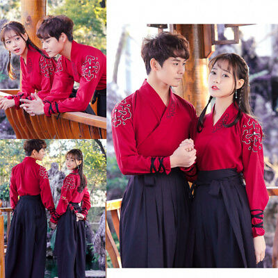 £32.69 • Buy Hanfu Suit Women Men CP Embroidered Traditional Chinese Ancient Costume Coat