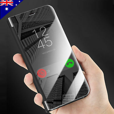 AU7.95 • Buy For Apple IPhone 7 8 Plus X XS Max XR Clear View Case Mirror Leather Flip Cover