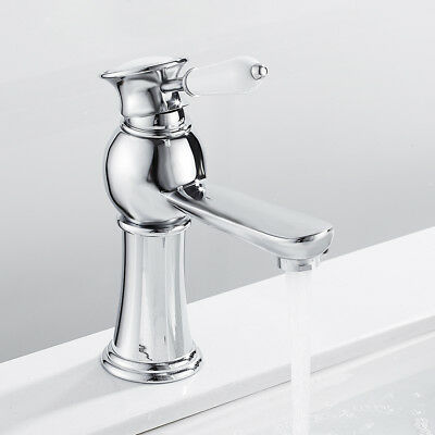 Traditional Counter Top Tap Bathroom Basin Mixer Taps Brass Single Lever Chrome • 21.99£