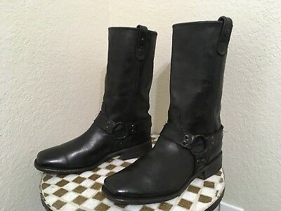 £205.38 • Buy Vintage Square Toe Harness Trail Boss Motorcycle Boots 10.5 D