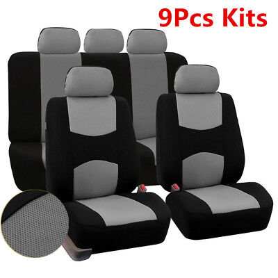 $ CDN29.56 • Buy Car Seat Covers Mesh Polyester Seat Protector Set Front + Rear Cover For 5-Seats