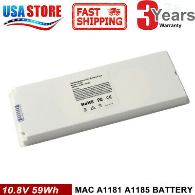 $21.95 • Buy Rechargeable Battery For Apple MacBook 13 Inch A1181 A1185 MA561 MA566 WHITE CG