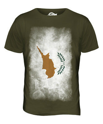 £23.23 • Buy Cyprus Faded Flag Mens T-shirt Tee Top Kypros Football Cypriot Gift Shirt