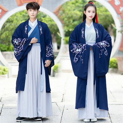 £63.03 • Buy Embroidered Traditional Chinese Hanfu Suit Women Men CP Ancient Costume Dress
