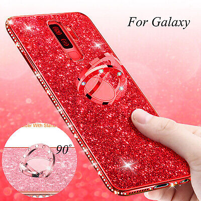 $ CDN10.28 • Buy Girl Bling Glitter Sparkly Plating Case Ring Stand Cover Fr Samsung Note 9 S9 S8