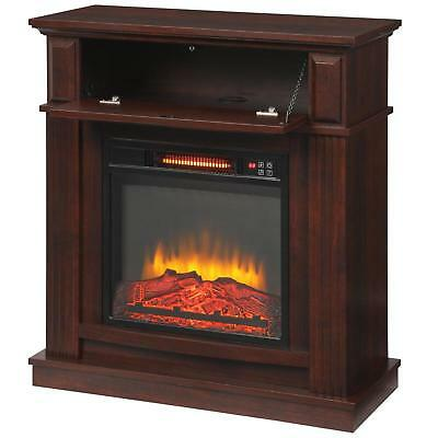 $271.88 • Buy Infrared Electric Fireplace TV Stand Fan Heater Blower Remote Adjustable Cherry