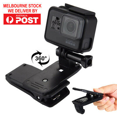 AU9.99 • Buy 360° Rotating Backpack Hat Quick Release Clip Clamp Mount For GoPro HERO Camera