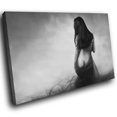 Black White Nude Erotic Woman Modern Canvas Wall Art Large Picture Prints • 19.99£