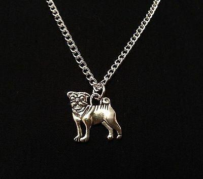 £1.95 • Buy Silver Tone Pug Dog Necklace, Great Gift