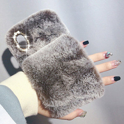 £5.49 • Buy Lovely Soft Faux Fur Fluffy Glove Protective Case Cover For IPhone XS Max X XR
