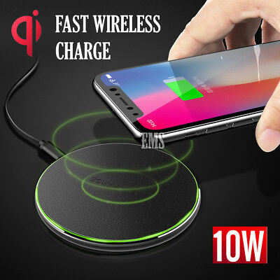 AU11.95 • Buy 10W Qi Fast Charging Wireless Charger Receiver Apple IPhone X XS Max XR 7 8 Plus