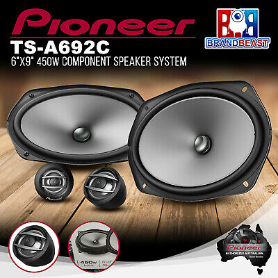 "AU143.85 • Buy Pioneer TS-A692C 450W 6×9"" 2-Way Component Speaker System"