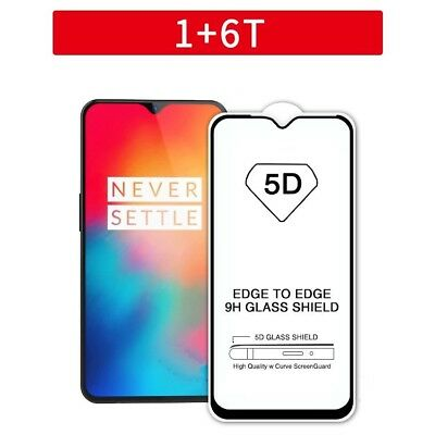 AU3.06 • Buy 5D Tempered Glass Screen Protector Gorilla Glass Hardness Fits OnePlus 6T -Black