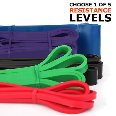 AU8.31 • Buy Resistance Loop Bands Long Band Exercise Crossfit Strength Power Fitness GYM