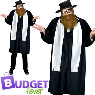 £24.99 • Buy Rabbi Mens Fancy Dress Saint & Sinner Jewish Religious Adults Costume Outfit New