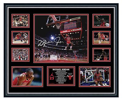 AU94.99 • Buy Michael Jordan Chicago Bulls Signed Photo Limited Edition Framed Memorabilia