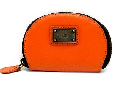 Jane Shilton Coins Card Purse Pouch Wallet With Zip Closure Orange • 15£