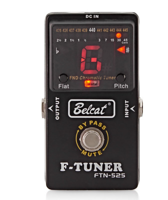 $ CDN70.81 • Buy Genuine Belcat FTN-525 Effect Pedal Tuner For Guitar Bass Tuning By Pass