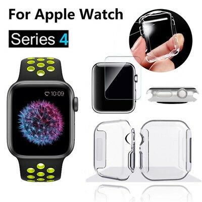 $ CDN1.25 • Buy Apple Watch Series 4 Full Tempered Glass Screen Protector TPU Case For 40/44mm.