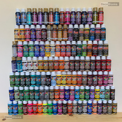 DecoArt Crafters Acrylic Paint 2oz 59ml Pot All Colours • 3£