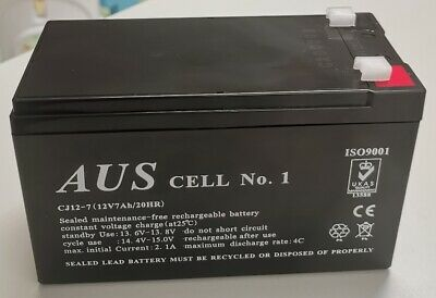 AU52 • Buy Aus Cell No.1 Sealed Lead Acid Rechargeable 12V7Ah Alarm Battery  CJ12-7