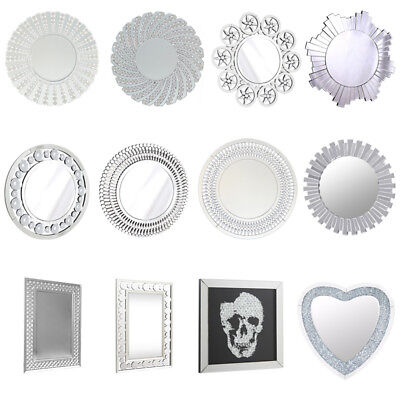 Venetian Wall Modern Mirror Square Round Small Large Glass Picture/Mirror Hang • 95.95£