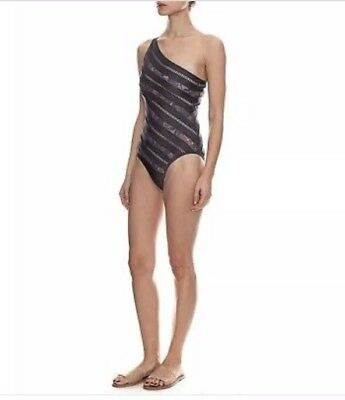 $115 • Buy Zimmermann Lovelorn Asymmetrical Mink Color 1 Pc Swimsuit Size AU 1,3 USA 6,8-10