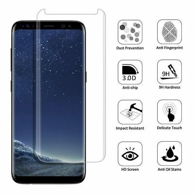 $ CDN2.73 • Buy Samsung Galaxy S8 Case Friendly Tempered Glass Screen Protector Clear