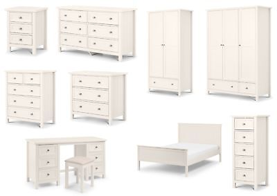 £329.95 • Buy Julian Bowen Maine Bedroom Furniture - New England Style White Lacquered Finish