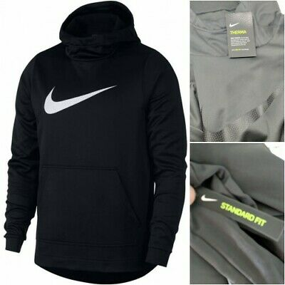 878379c86 Men s Nike HBR PULL OVER THERMA HOODIE Anthracite   BLACK Size Large NWT •  49.95