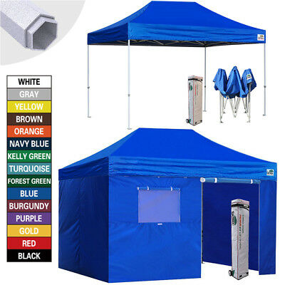 $379.95 • Buy 10X15 EZ Pop Up Canopy Outdoor Commercial Party Tent Fair Shelter HEAVY DUTY
