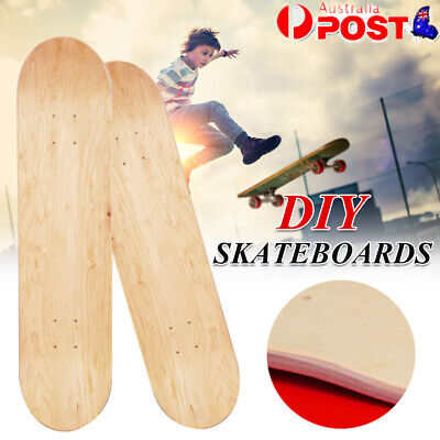 AU33.56 • Buy 8inch Maple Blank Double Warped Concave Skateboard Natural Wood Skate Deck Board