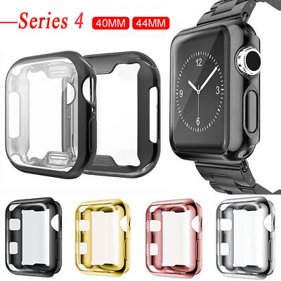 $ CDN3.89 • Buy For Apple Watch Series 5 4 Soft TPU Bumper Case Cover Screen Protector 44mm 40mm