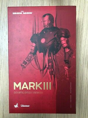 AU686.56 • Buy Hot Toys DS 003 Iron Man Mark III 3 (Construction Version) NEW