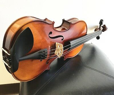 $195 • Buy New 15  Size Viola, Solid Wood, Professional Set Up+ Bow+ Case, Ready To Play!