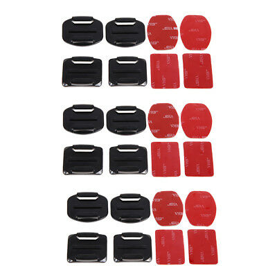 $ CDN10.77 • Buy 12Pcs Helmet Accessories Flat Curved Adhesive Mount For Gopro Hero 3 3+ 4 5 6 7