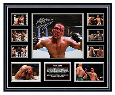 AU94.99 • Buy Nate Diaz Ufc Signed Photo Limited Edition Framed Memorabilia