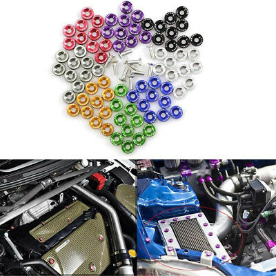 AU12.59 • Buy 10/Set Universal M6 JDM Screw Washer Bumper Nut Bolts Car Engine Bay Fender Kit