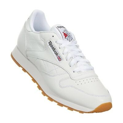 30e70ff6610 Reebok Classic Leather CL White Red Gum Fashion Mens Shoes Sneakers 49797 •  57.95