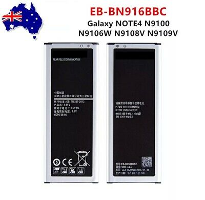 AU16.98 • Buy Samsung Galaxy Note 4 Duos Battery 3000mAh N9100 N9100G EB-BN916BBC