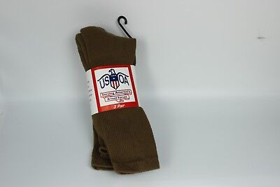 New Anti-Microbial Military Coyote Tan Brown Boot Socks, Pack Of 3 Made In USA • 13.55£