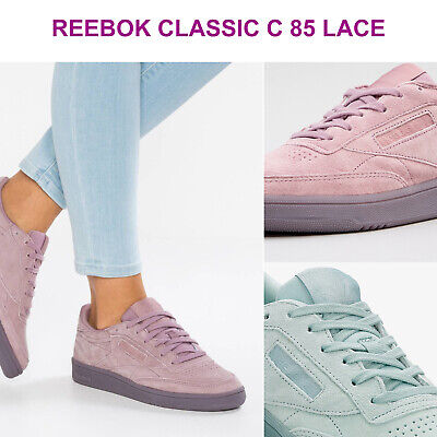 AU60.50 • Buy Womens Reebok Classics WMN Club C 85 Lace Suede Low Top Sneakers NEW