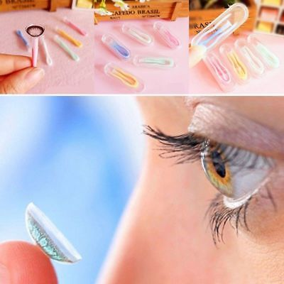 £2.49 • Buy 3Pcs Eyes Protector Contacts Tweezers Insert Remover Contact Lenses Silicone Kit