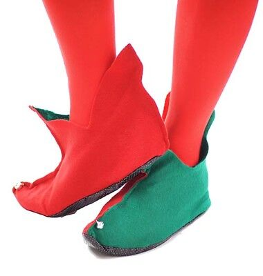 Christmas-Fancy Dress LADIES ELF PIXIE SHOES & TIGHTS - See Options Available • 5.75£