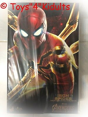 AU573.30 • Buy Hot Toys MMS 482 Avengers 3 Infinity War Iron Spider Spider-Man Peter Parker NEW